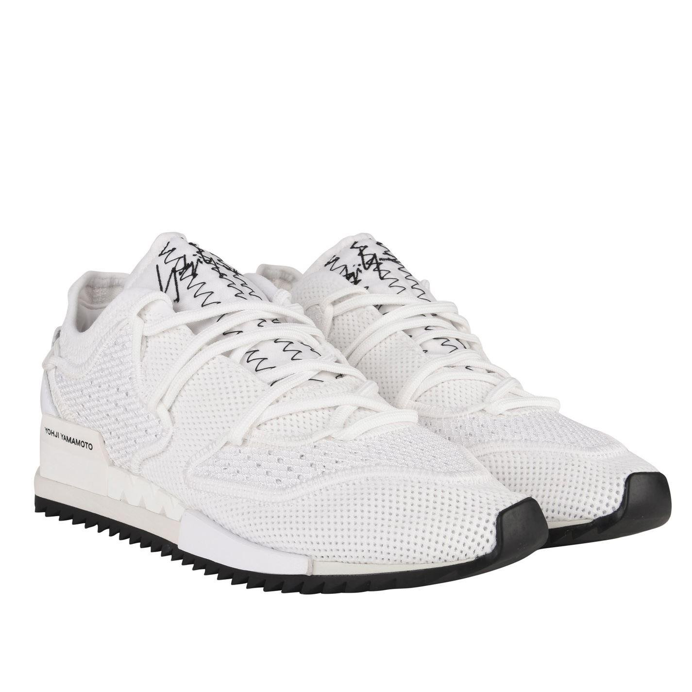 promo code 5168d 0dd70 Y-3 - White Harigane Knit Mesh Trainers for Men - Lyst. View fullscreen
