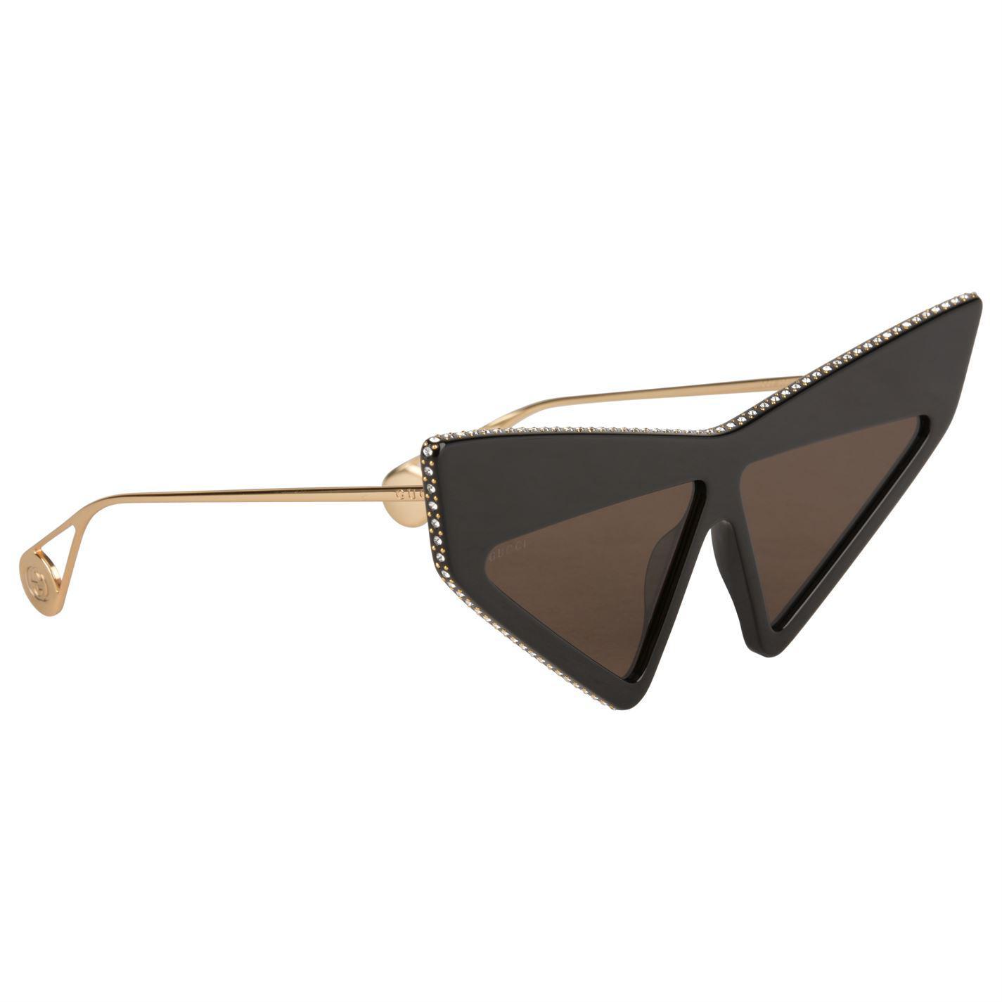 cfed495e4f Gucci - Brown Mask Frame Acetate Sunglasses - Lyst. View fullscreen