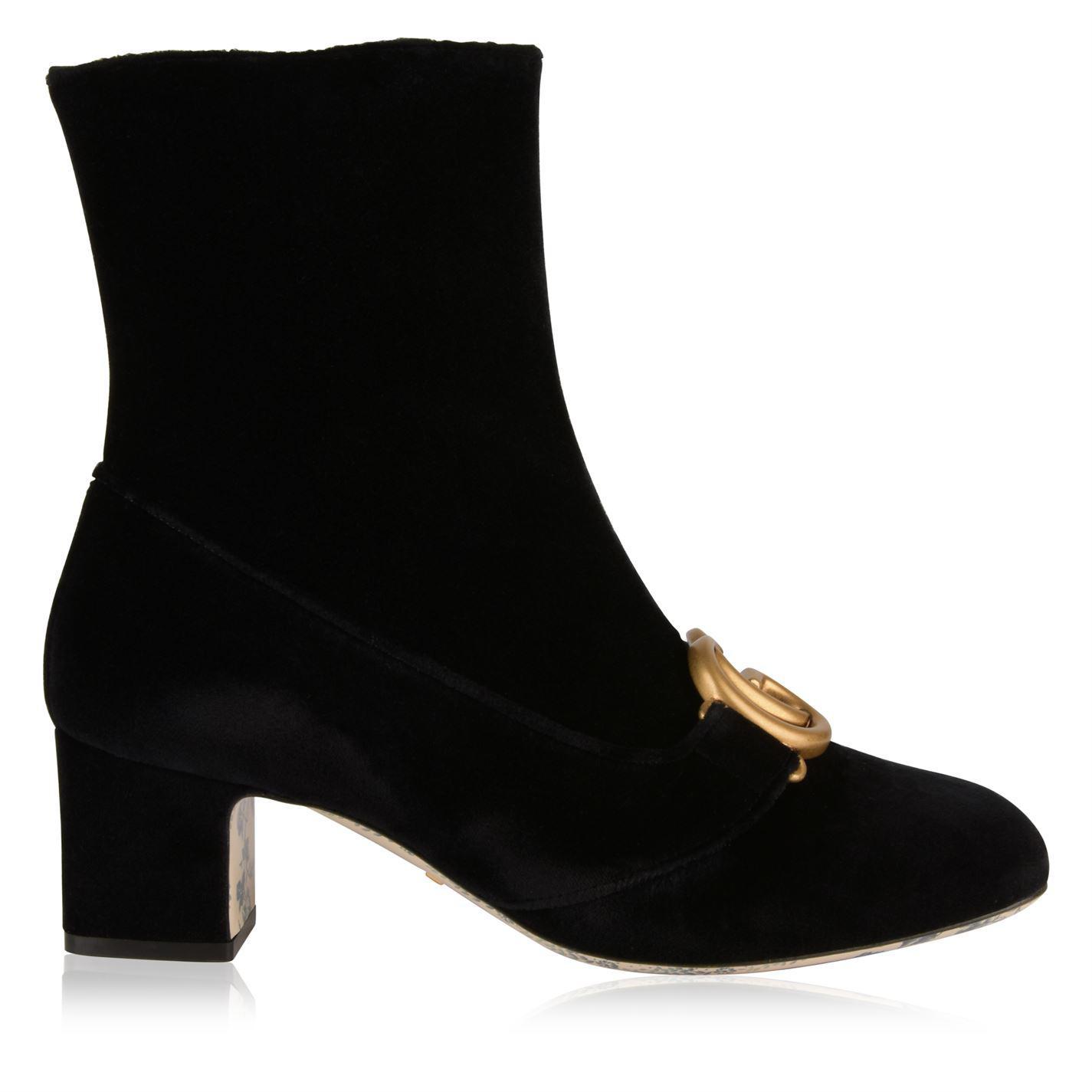 eae16f7e8e5 Gucci Victoire Gg Ankle Boots in Black - Lyst