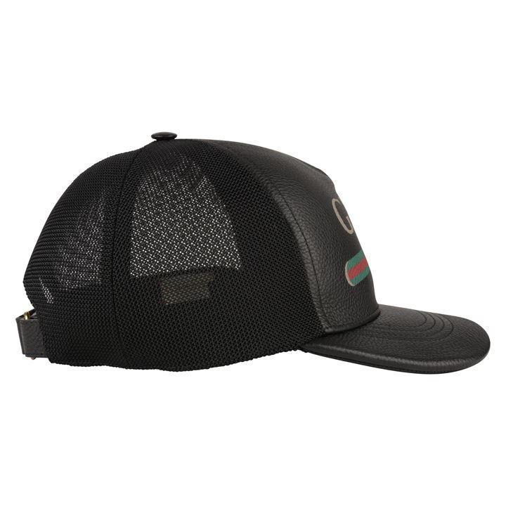 3553a684 ... Gucci - Black Faux Leather Trucker Cap for Men - Lyst. Visit Flannels.  Tap to visit site