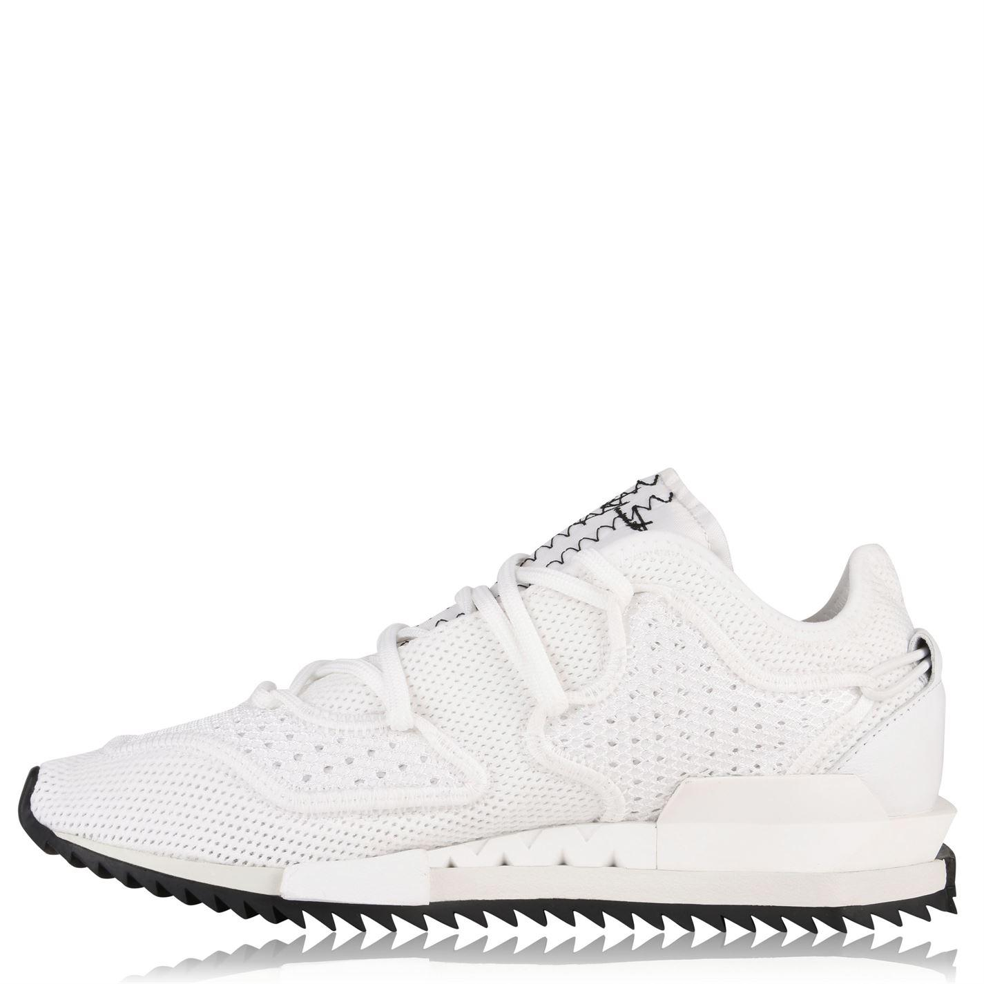 f8e95e9211a27 Lyst - Y-3 Harigane Knit Mesh Trainers in White for Men
