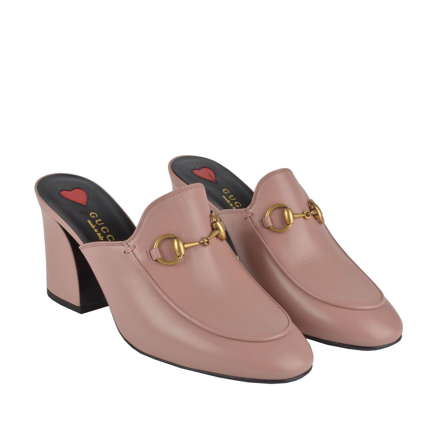 3f06d260e Gucci Princetown Heeled Mules - Lyst