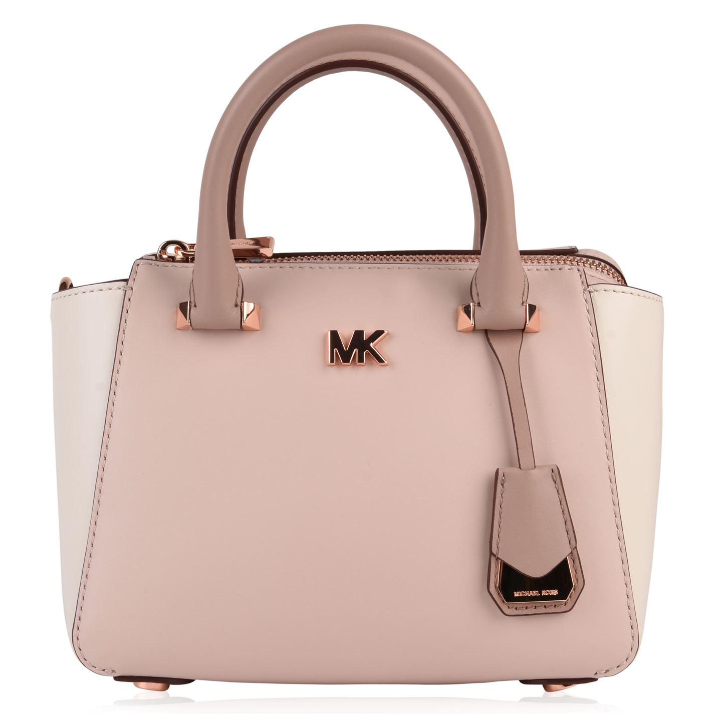 6c106fc786 ... greece lyst michael michael kors mk motto messenger bag in pink 15f50  7f19f