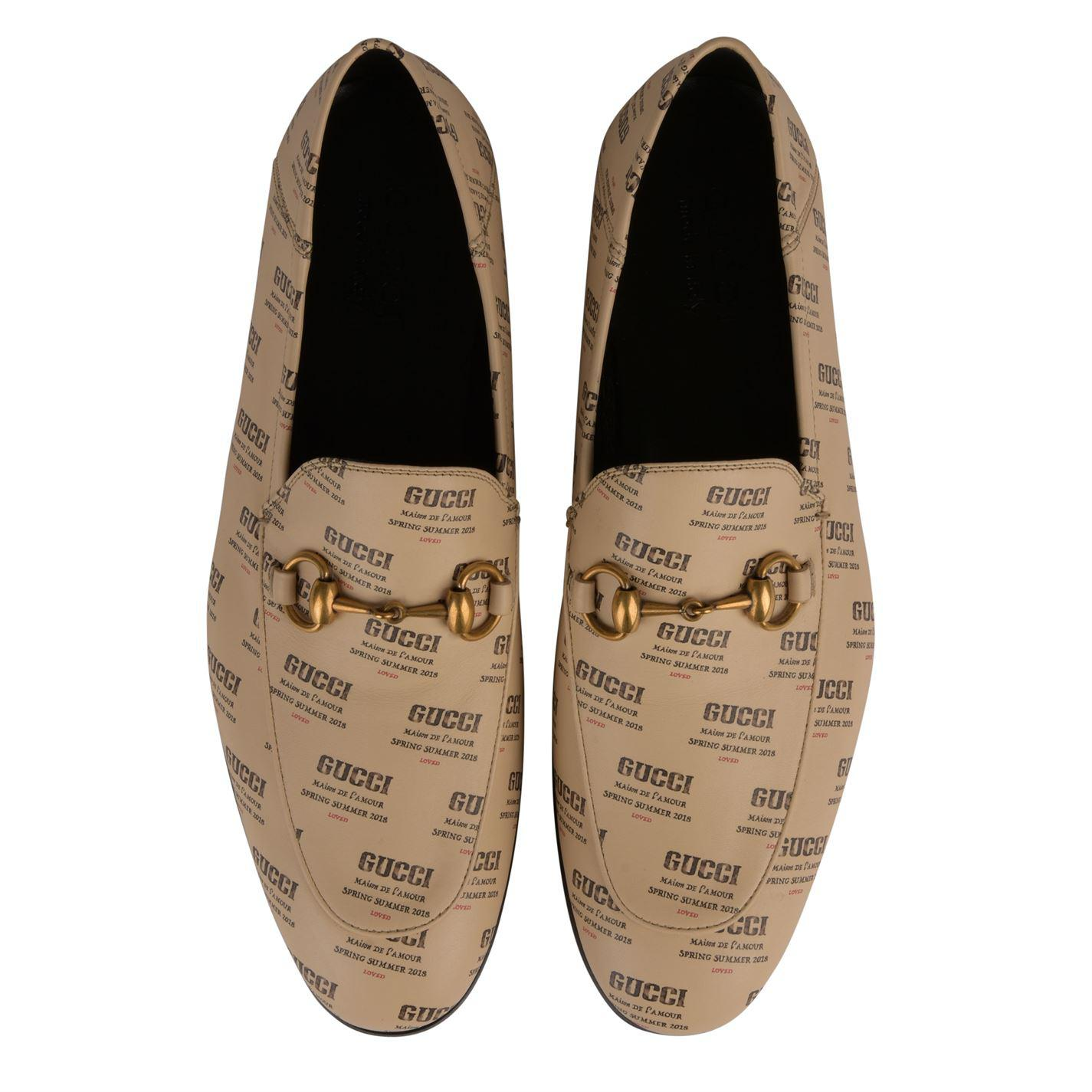 eb10405135a Gucci - White Brixton Loafers for Men - Lyst. View fullscreen