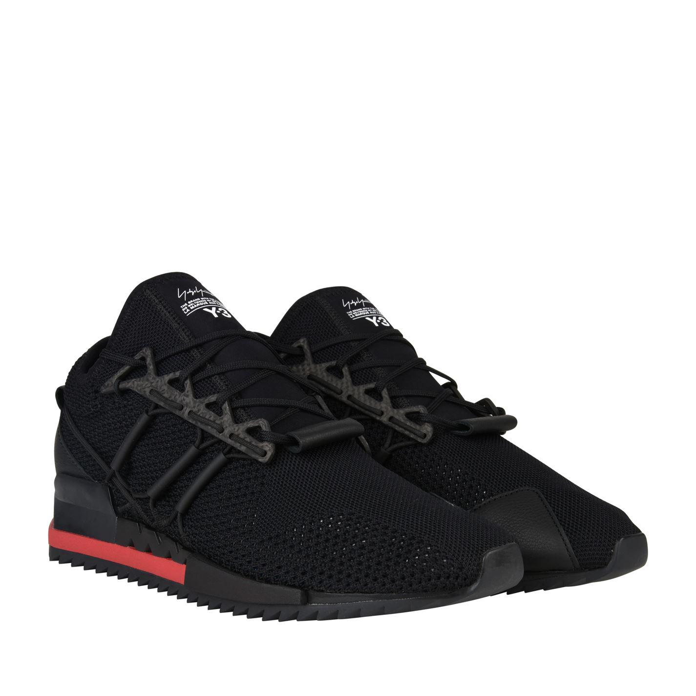f69bee5fd93eb Y-3 Harigane Runner Trainers in Black for Men - Lyst