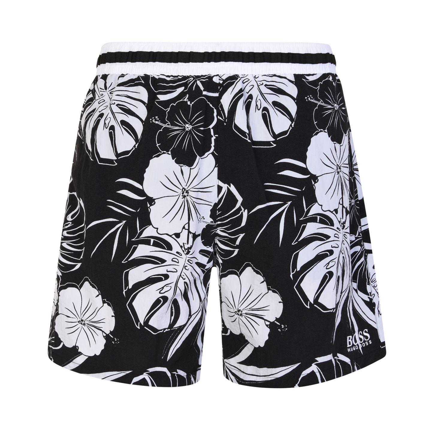 0b16dae73 Lyst - BOSS by Hugo Boss Quick Dry Tropical Print Swim Shorts in ...