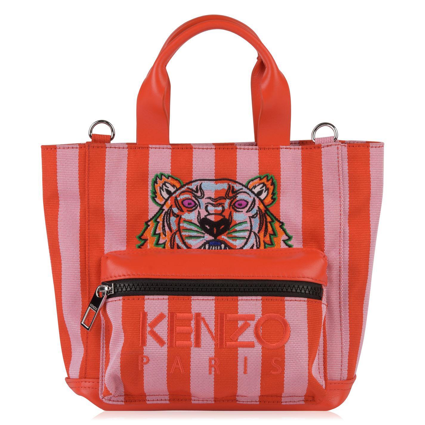 Kenzo Tiger Mini Tote Bag in Red - Lyst 0372e7d8dd708