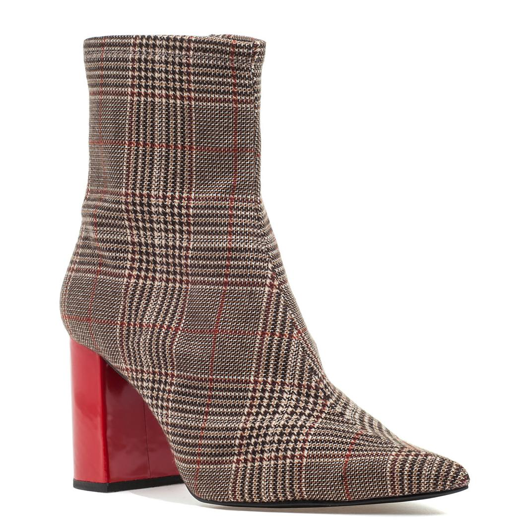 68ce010fa70 Lyst - Jeffrey Campbell Tapered Toe Bootie in Brown