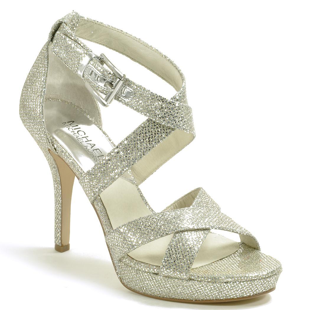 cc54e2690d0 Michael Michael Kors Platform Sandal in Metallic - Lyst