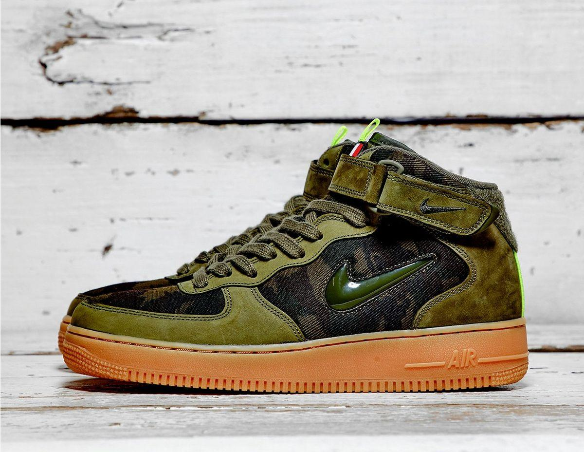 e270bff97f Nike Air Force 1 Jewel Mid in Green for Men - Save 1% - Lyst