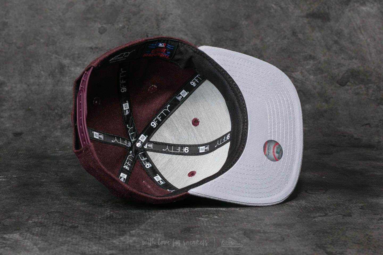 fd8f3ebd3e58a Lyst - KTZ 9fifty Mlb Seasonal Heather Atlanta Braves Cap Red  Grey ...