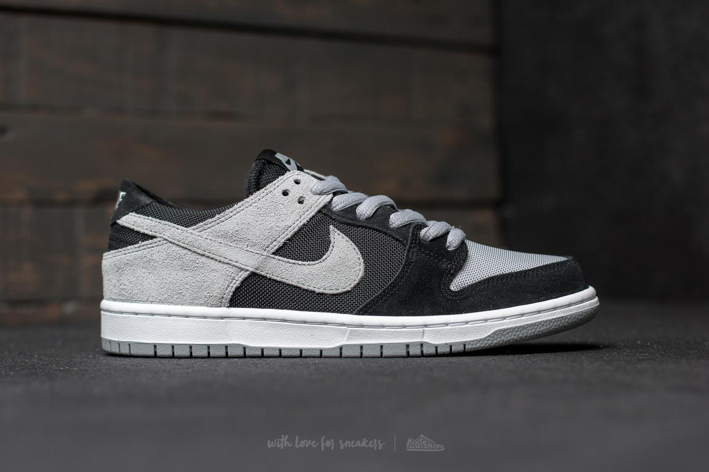 8df9208a14e Lyst - Nike Sb Zoom Dunk Low Pro Black  Wolf Grey-white-white for Men