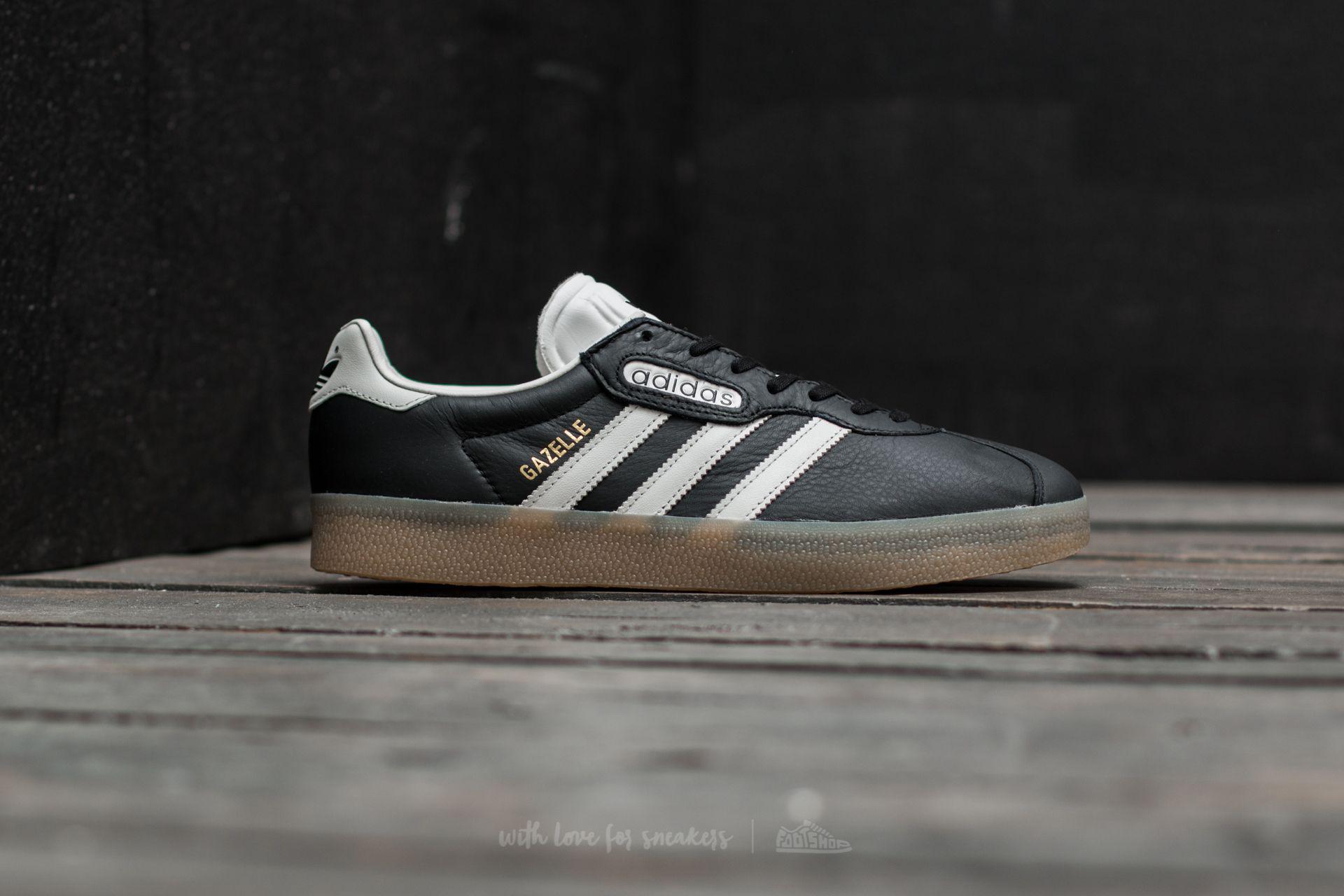 adidas gazelle black and gum
