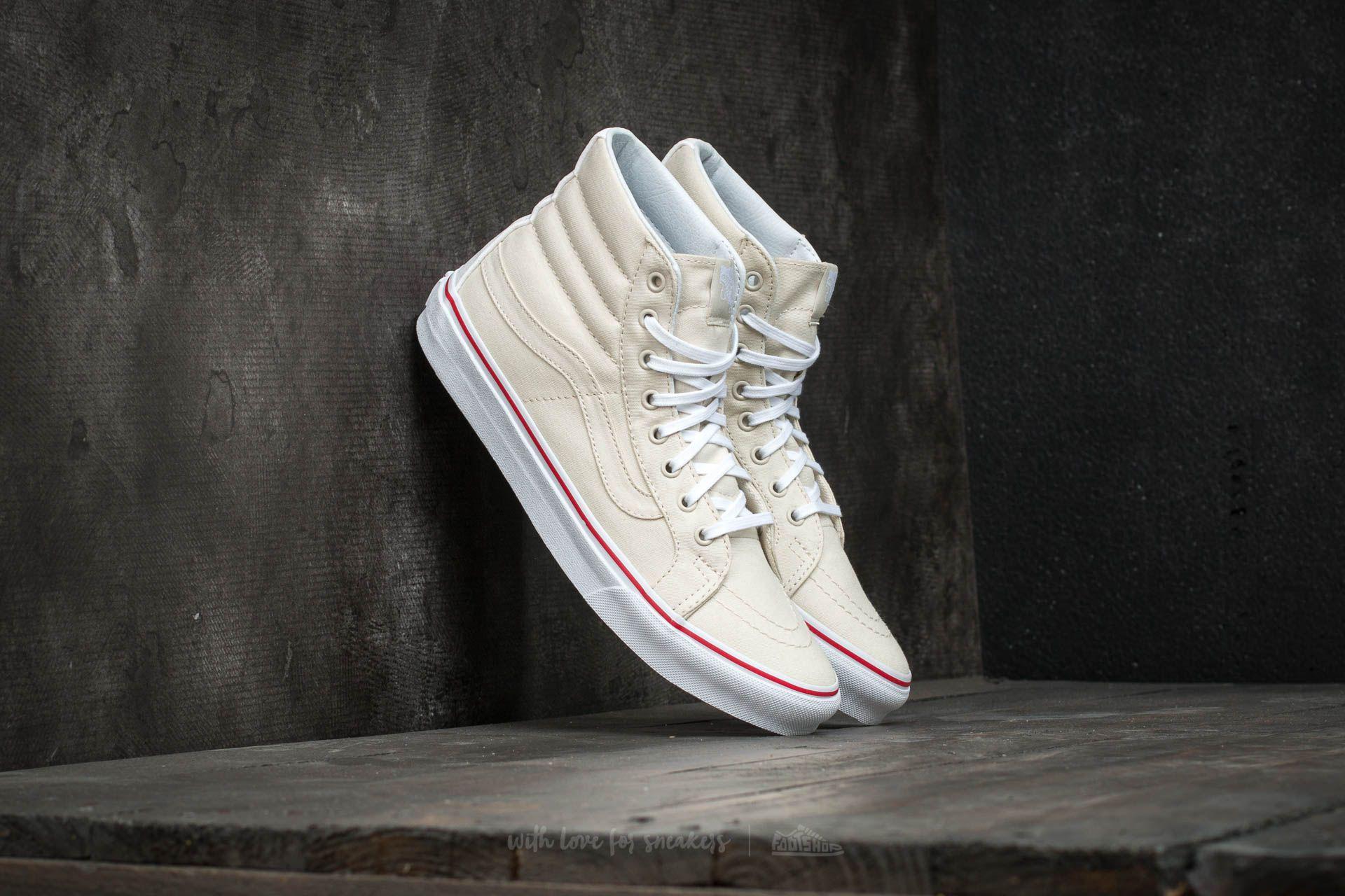6c3deb623294 Lyst - Vans Sk8-hi Slim (leather Canvas) Bone  True White for Men