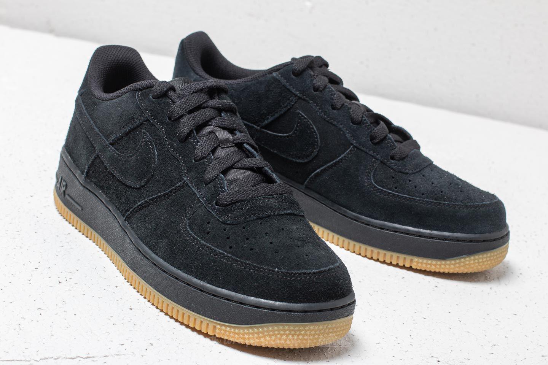 Nike Air Force 1 (GS) Black Black Sail | Footshop