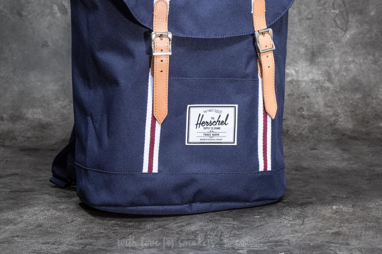 7d6f388001 Lyst - Herschel Supply Co. Retreat Backpack Peacoat  White  Windsor ...