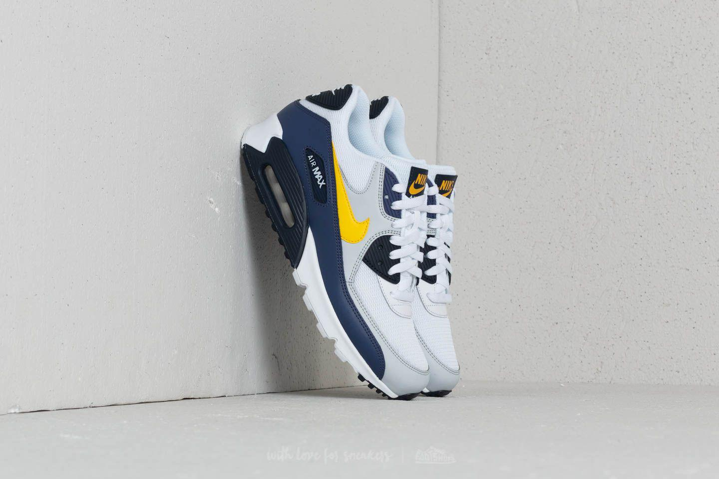 outlet store 48bcd 0a6ef ... cheap lyst nike air max 90 essential white tour yellow blue recall in  d38ae e198f ...