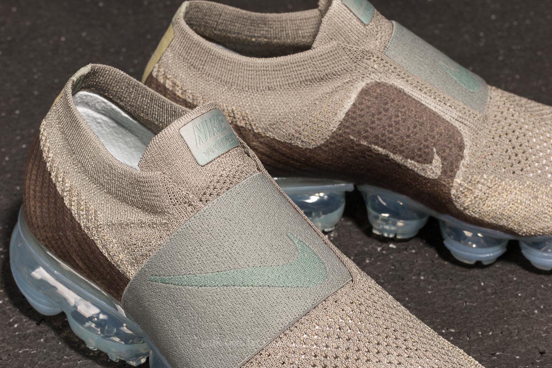 124a0c1e5244e2 Lyst - Nike Wmns Air Vapormax Flyknit Moc Dark Stucco  Clay Green in ...