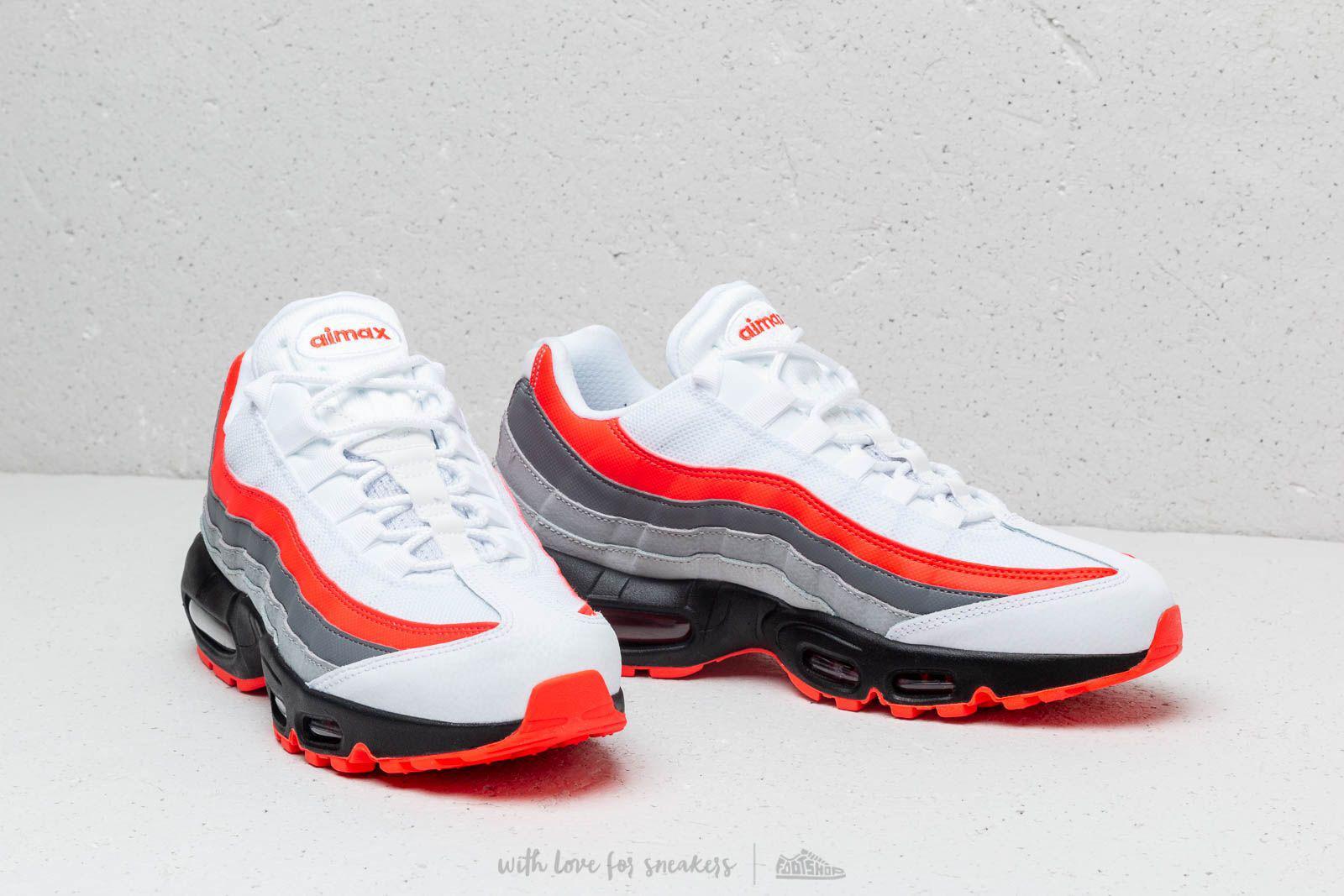 size 40 f8578 e28e5 Nike - Air Max 95 Essential White  Bright Crimson-black-pure Platinum for.  View fullscreen