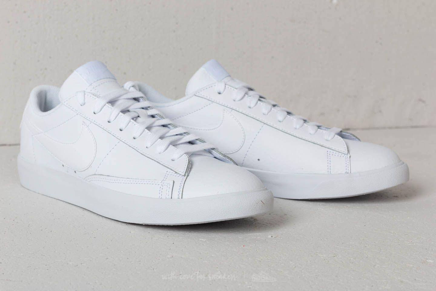 new arrivals 271d7 42121 Nike Blazer Low Leather White  White-white in White - Lyst