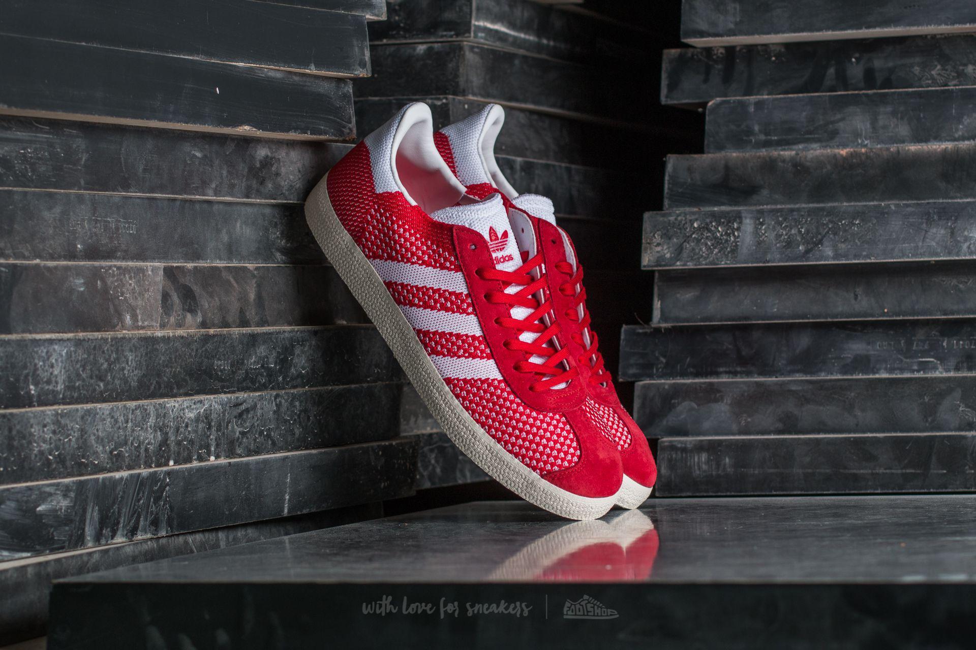 adidas Originals. Men's Adidas Gazelle Primeknit Scarlet/ ...