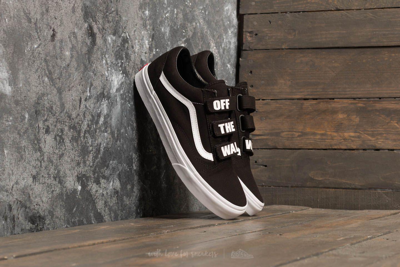 1e34624826 Lyst - Vans Old Skool V (off The Wall) Black  True White in Black ...