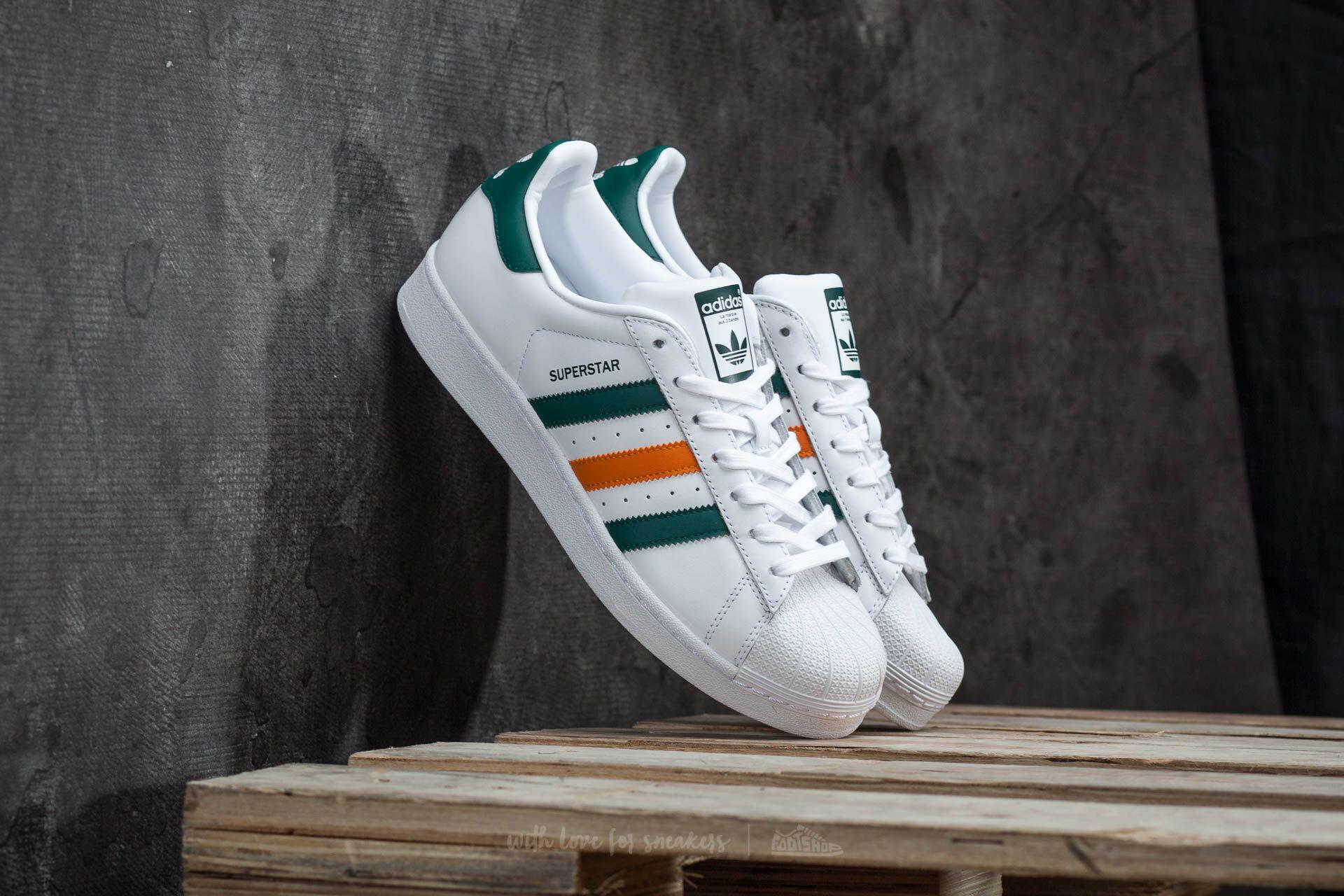 Lyst - adidas Originals Adidas Superstar Ftw White  Collegiate Green ... 85488f374b2f0