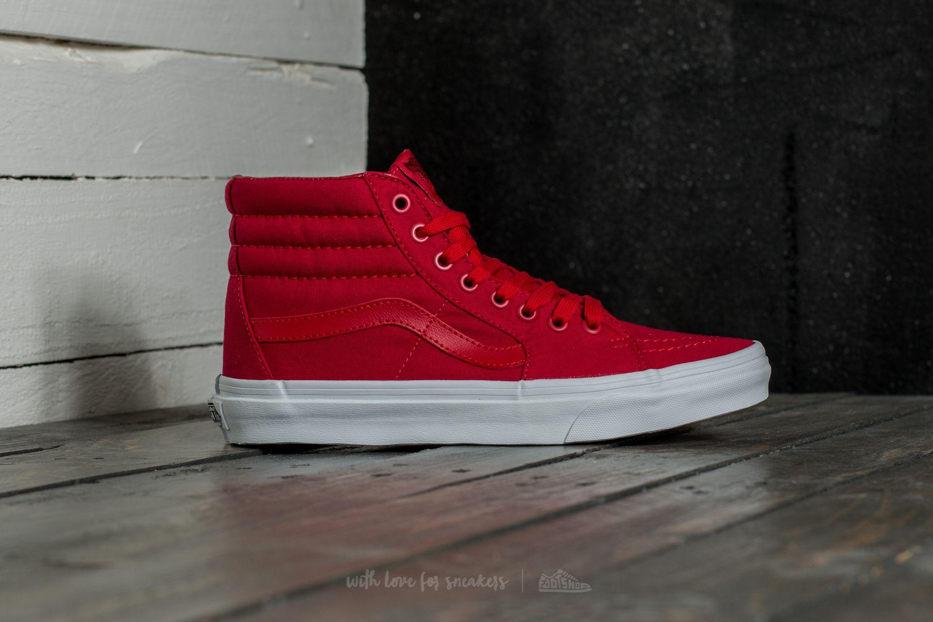 733bf8f36a Lyst - Vans Sk8-hi (mono Canvas) Chili Pepper  True White in Red for Men