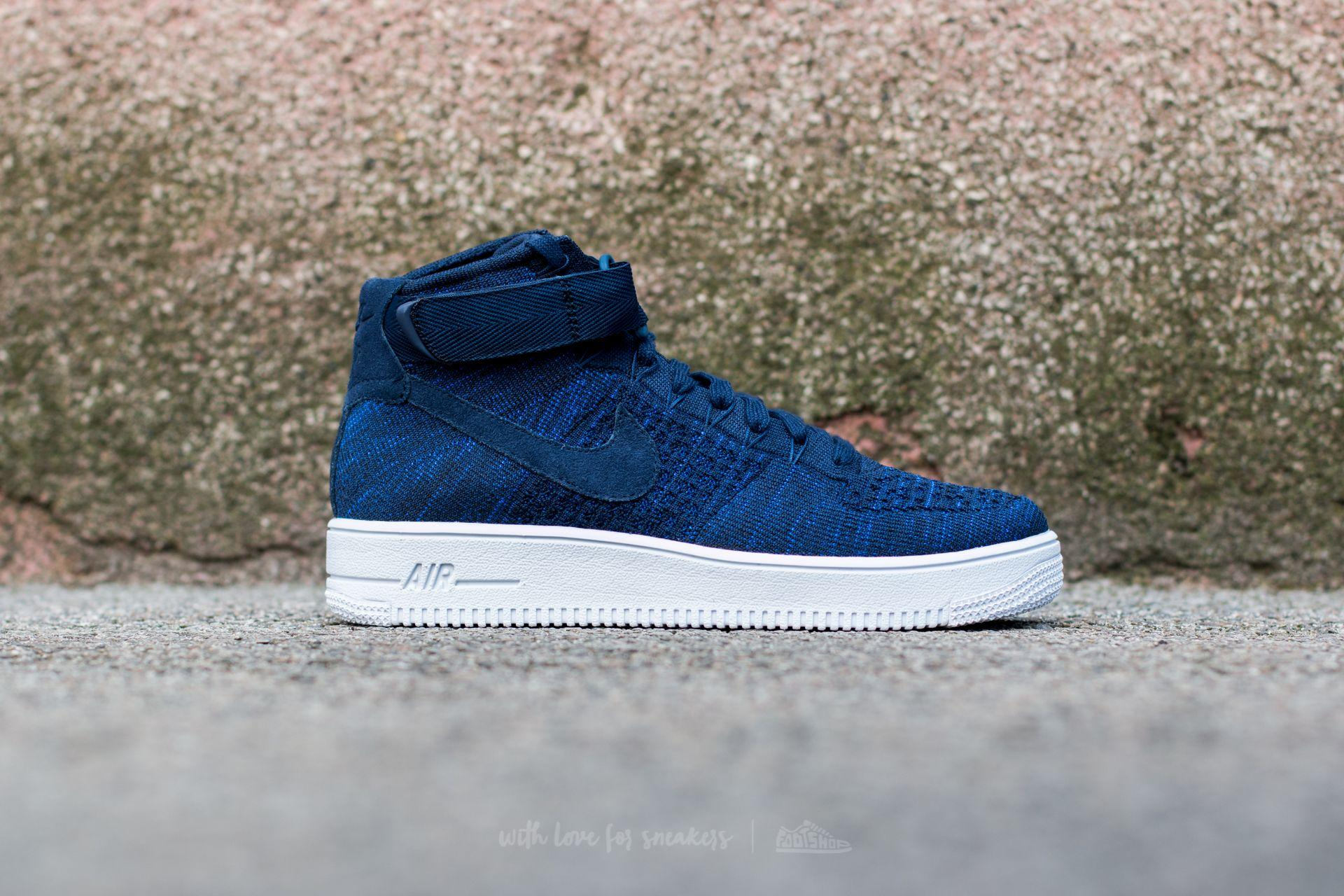 4138d60abb43d Lyst - Nike Air Force 1 Ultra Flyknit Mid College Navy  College Navy ...