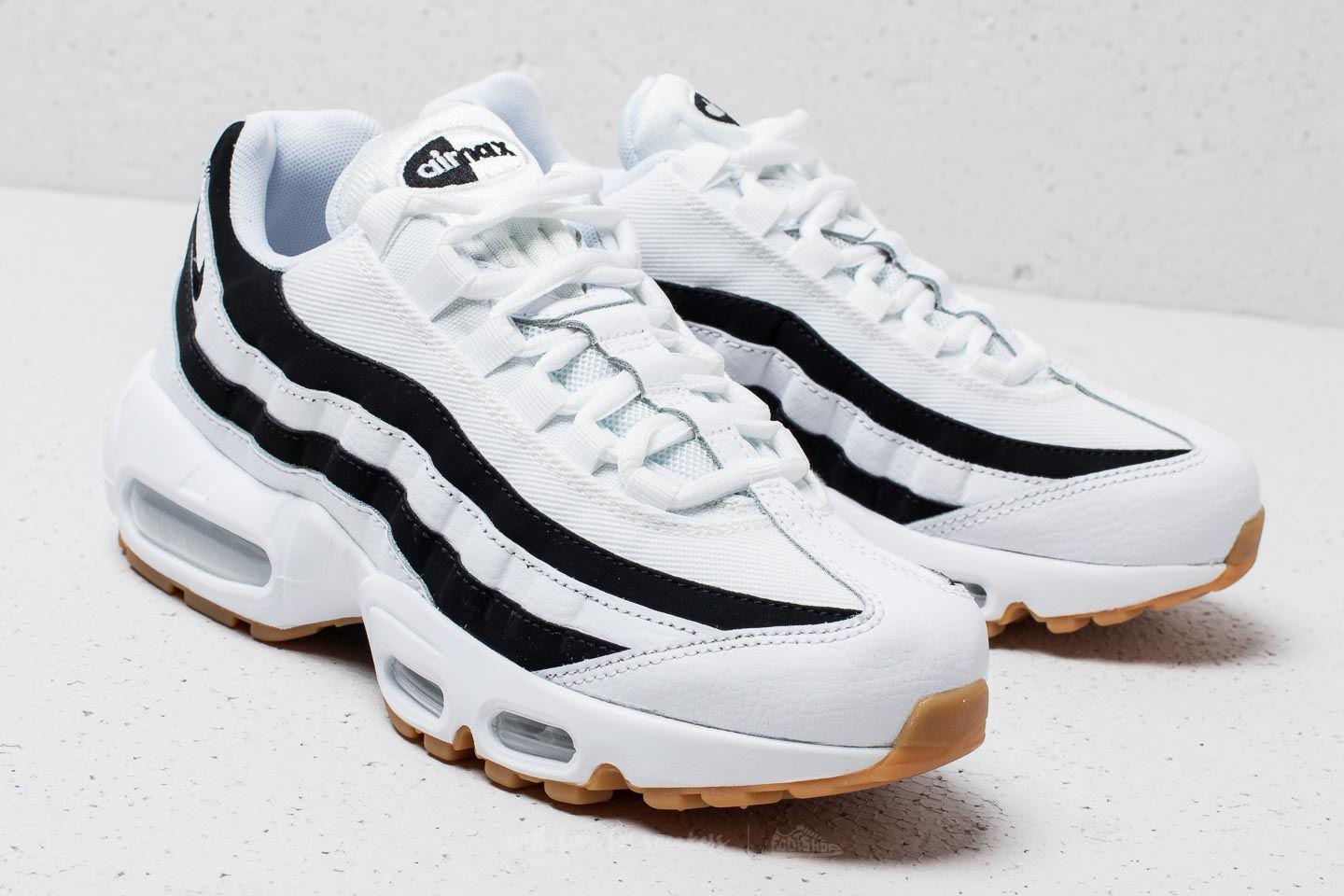 uk availability d93c0 bca73 ... australia lyst nike wmns air max 95 white black gum light brown in  white ab0a1 2b1eb