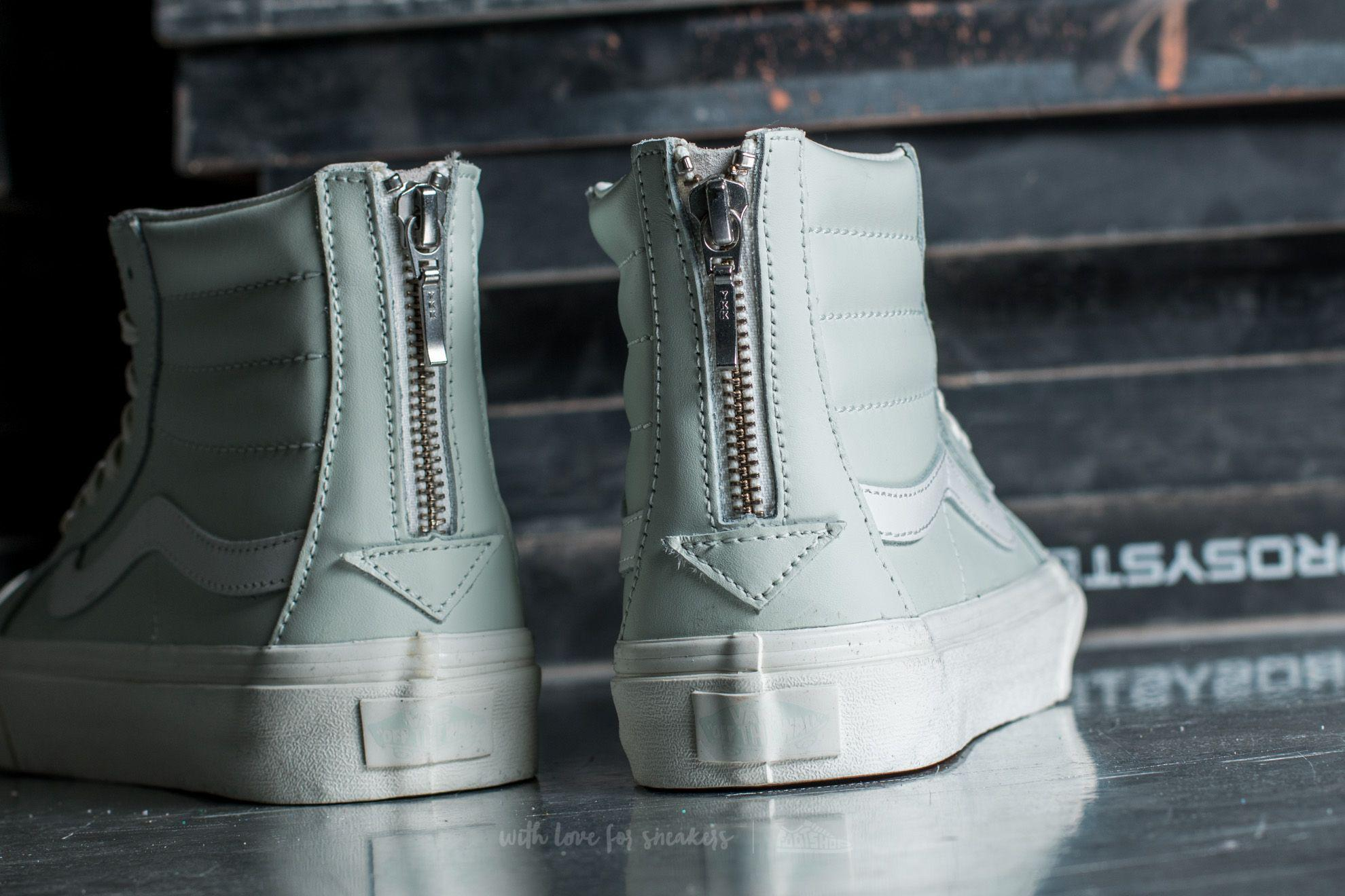 1a563c2cb1 Lyst - Vans Sk8-hi Slim Zip Leather Zephyr Blue  Blanc De Blanc in Blue