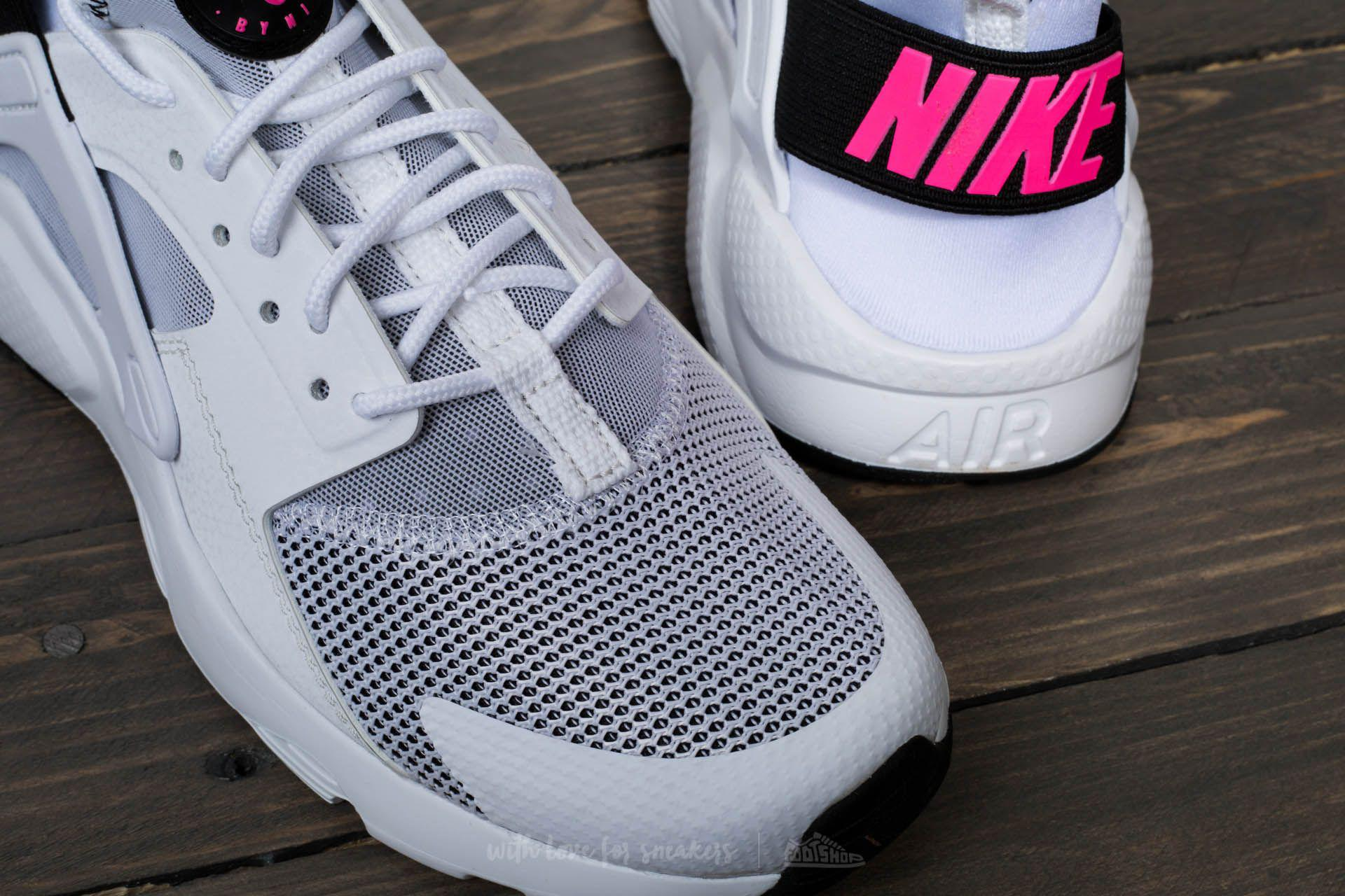 f23a290a1b8b9 switzerland lyst nike air huarache run ultra gs white black pink blast  787ae 4d07f