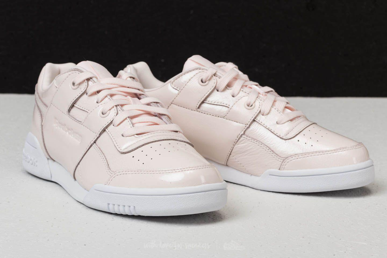 Reebok - Reebok Workout Lo Plus Iridescent Pale Pink  White - Lyst. View  fullscreen 372b89515