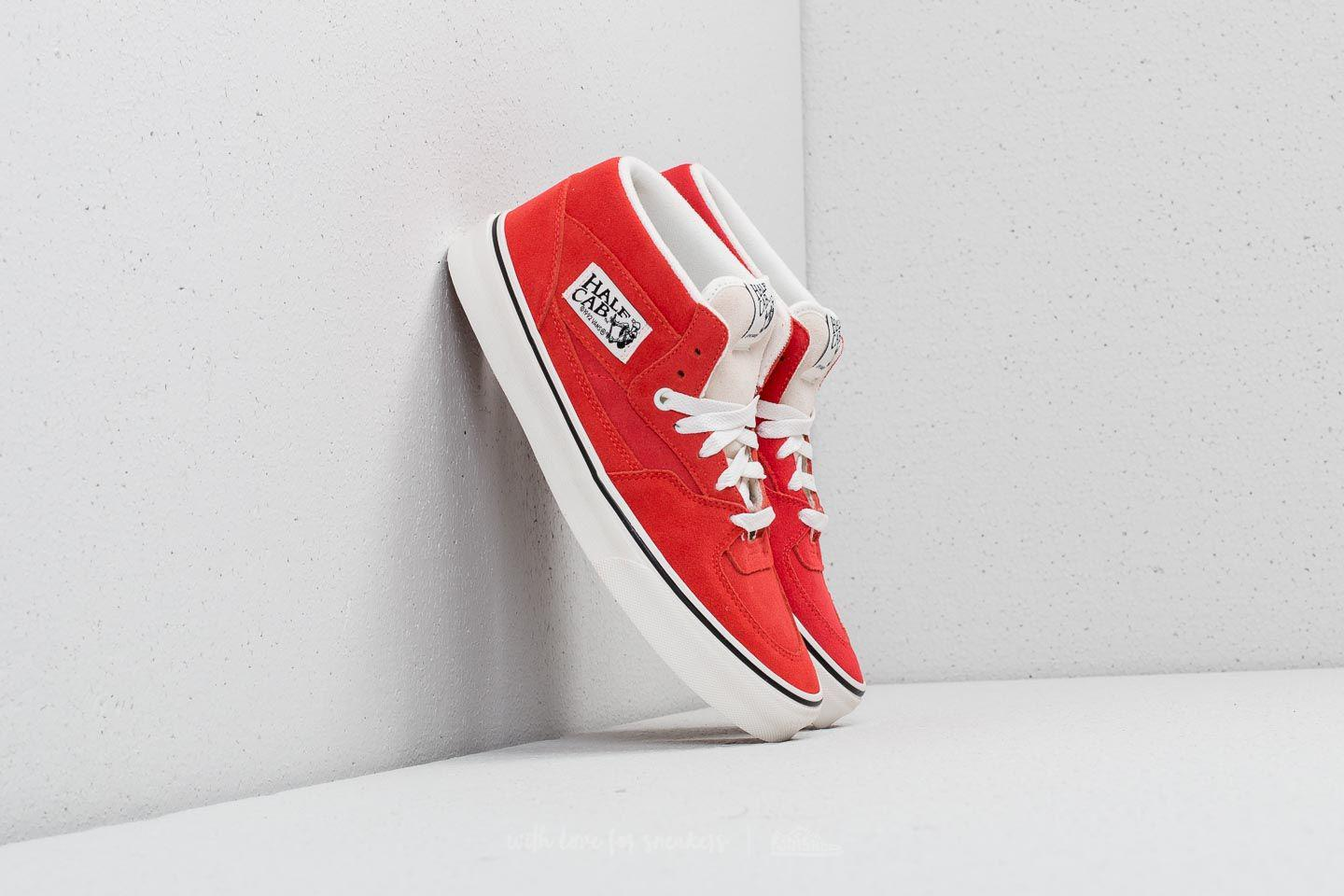 6e07a5bf025d Lyst - Vans Half Cab (suede) Hibiscus  True White in Red for Men