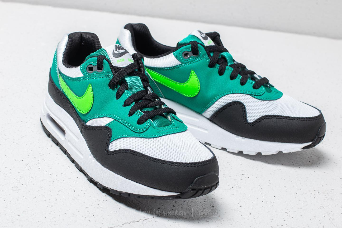 huge selection of aaa16 2bf26 sale nike air max 1 gs white green strike lyst. view fullscreen 86d1d d8e11