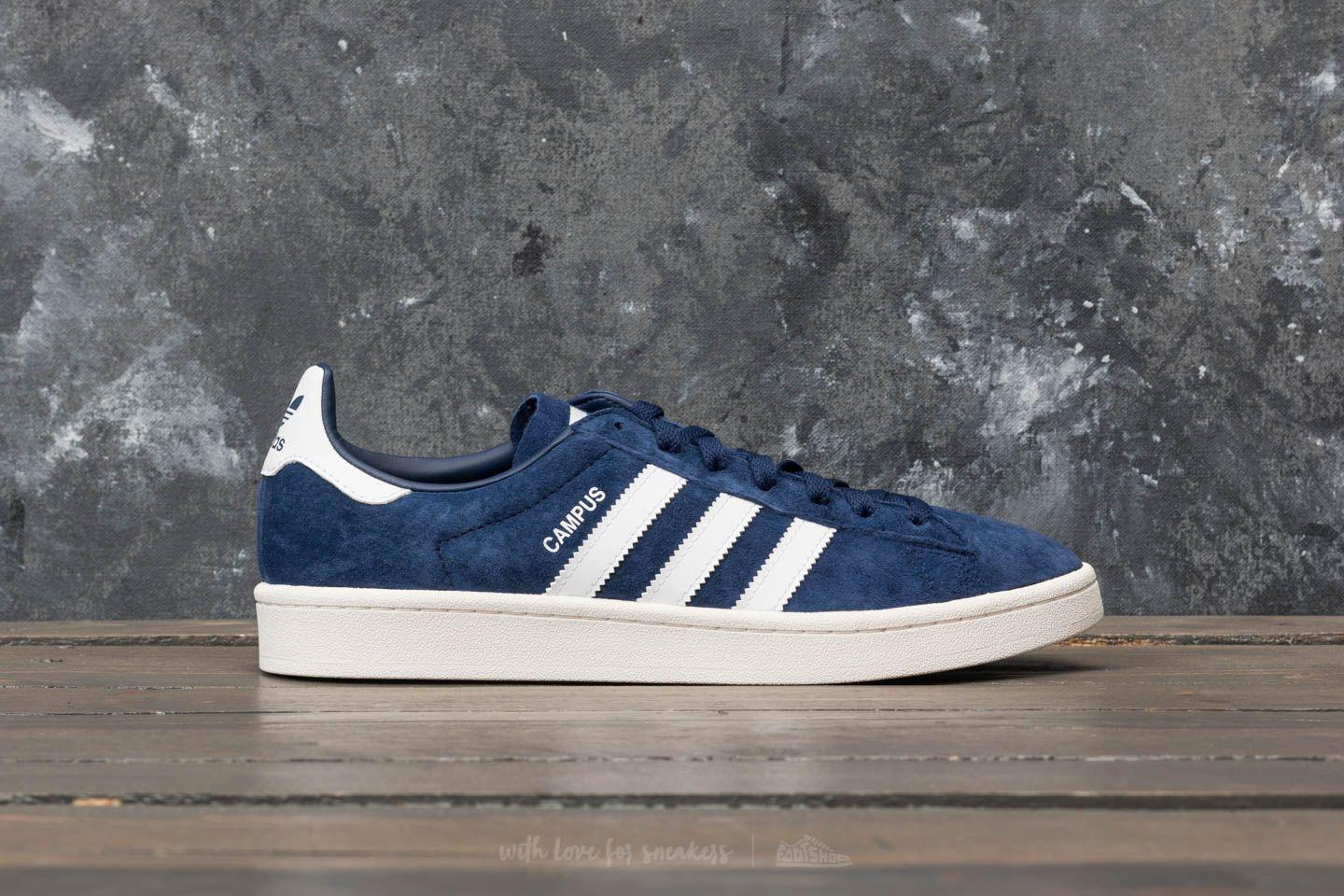 d9c2d9ecccb356 Lyst - adidas Originals Adidas Campus Dark Blue  Ftw White  Chalk ...