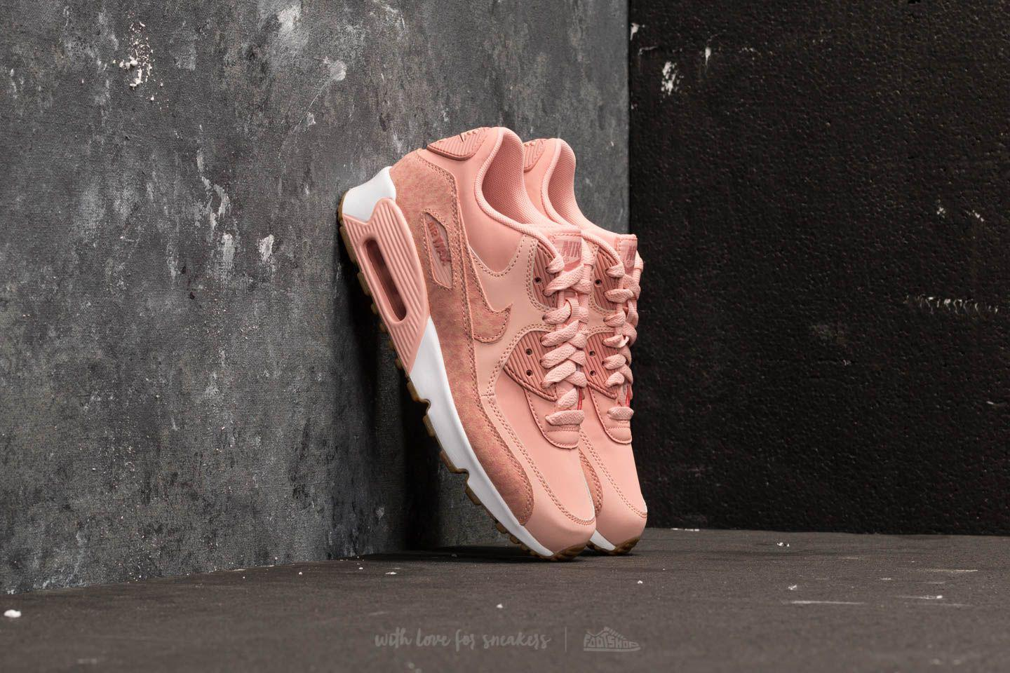 cb988f80e9116 Lyst - Nike Air Max 90 Leather Se GG Coral Stardust  Rust Pink-white ...