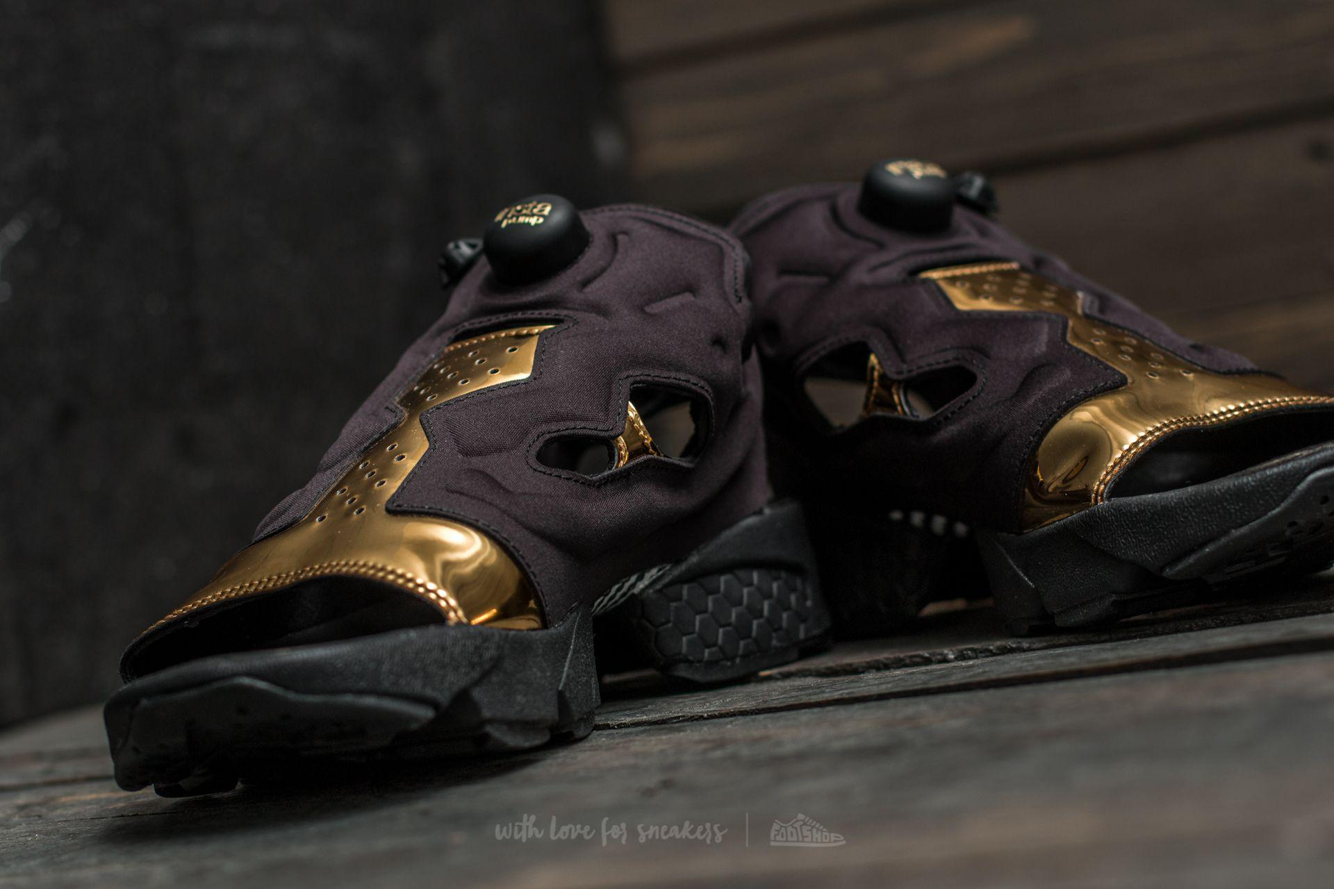 260d48066c9b5 Lyst - Reebok Instapump Fury Sandal Magic Hour Black  Gold Metal ...
