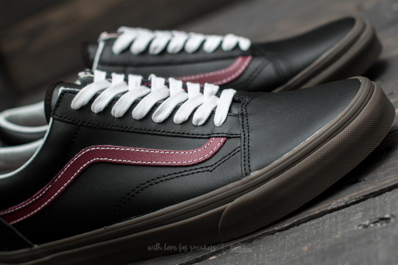 f2e96eb4e97d9e Lyst - Vans Old Skool (bleacher) Black  Port  Gum in Black for Men