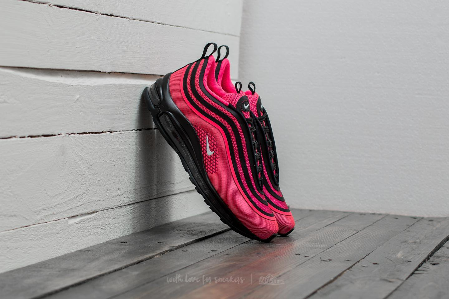 cheap for discount dc437 ff731 Nike Air Max 97 Ultra 17 (gs) Black/ Racer Pink-white in Pink - Lyst