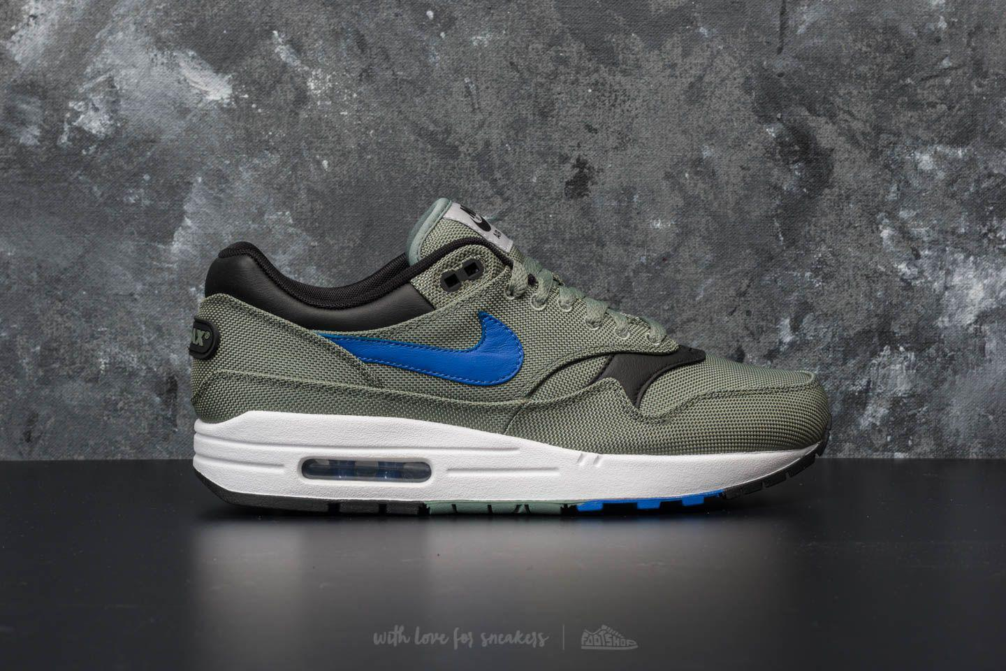 low priced c3564 4b37c Nike Air Max 1 Premium Clay Green  Hyper Royal-white for Men - Lyst