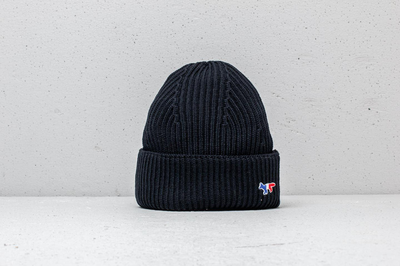 Lyst - Footshop Maison Kitsuné Ribbed Hat Black in Black for Men 229a6544ebd9
