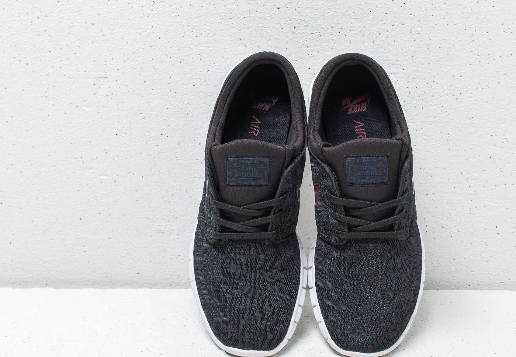 new style d7c7f 5d166 Nike Sb Stefan Janoski Max Black  Blue Void for Men - Save 1% - Lyst