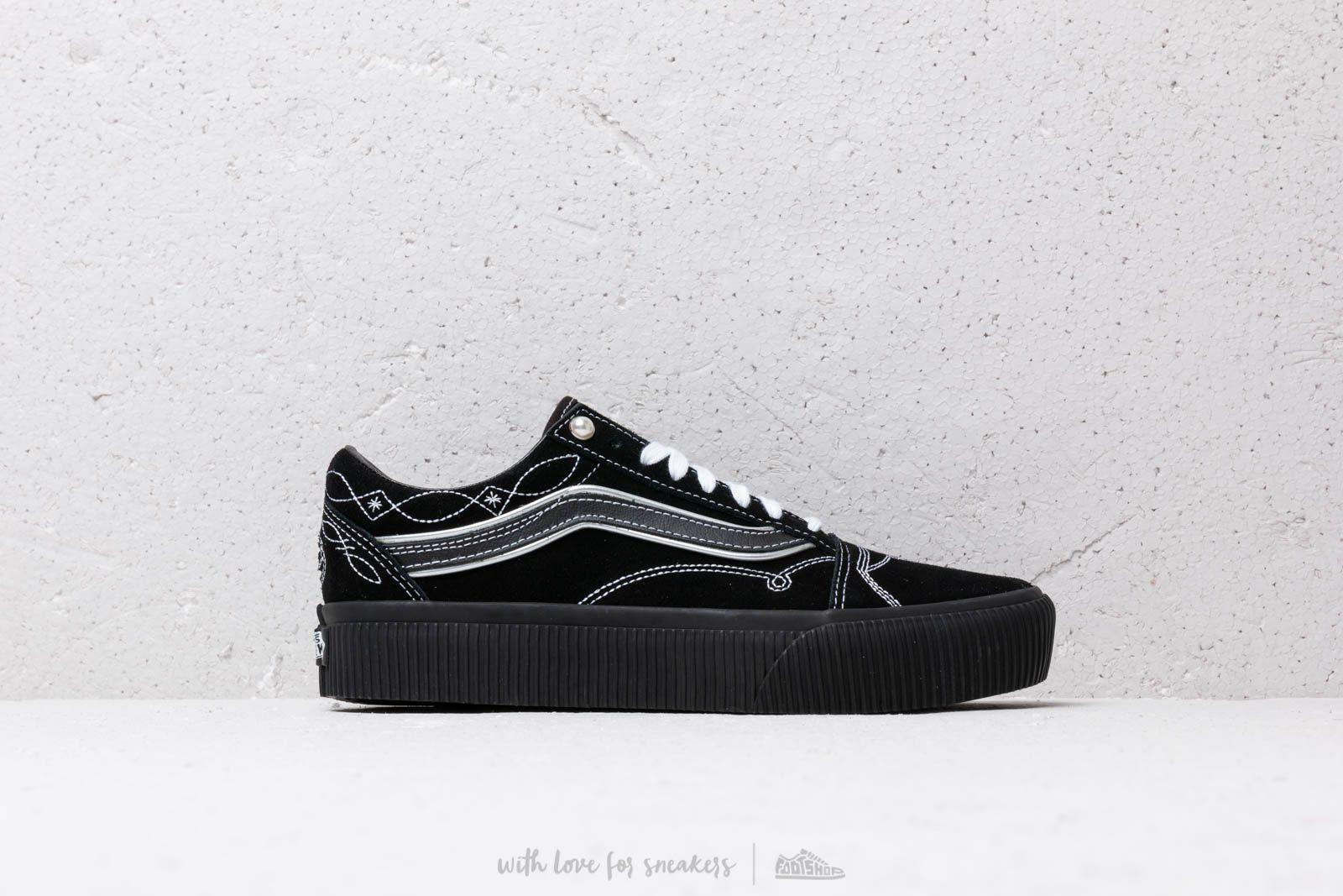81e7d3c2c0c Lyst - Vans Old Skool Platform (pearly Punk) Black  Black in Black ...