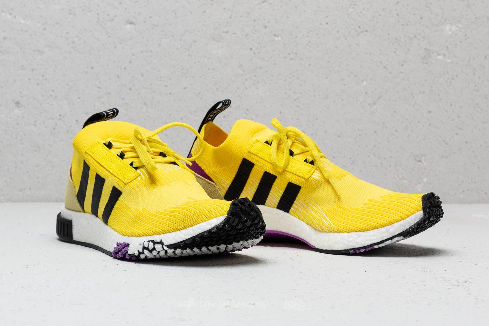 21240527abdd Lyst - adidas Originals Adidas Nmd Racer Primeknit Solar Yellow ...