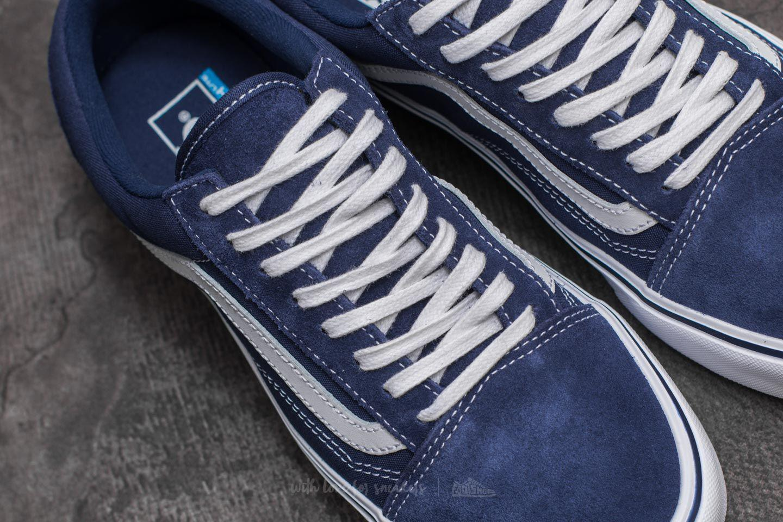 91d82a2e947b94 Lyst - Vans Old Skool Lite (suede  Canvas) Blue Depths in Blue for Men