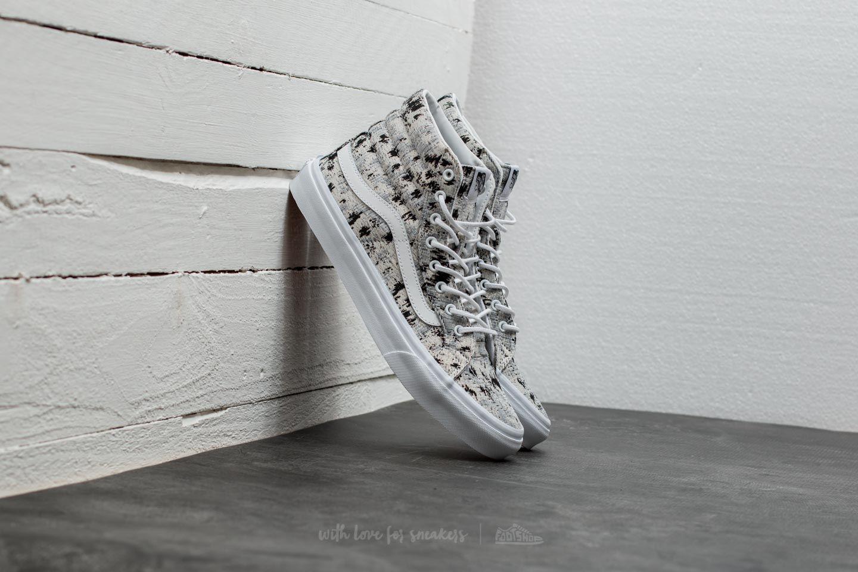 bf8c6241aa Lyst - Vans Sk8-hi Slim (italian Weave) Abstract  True White