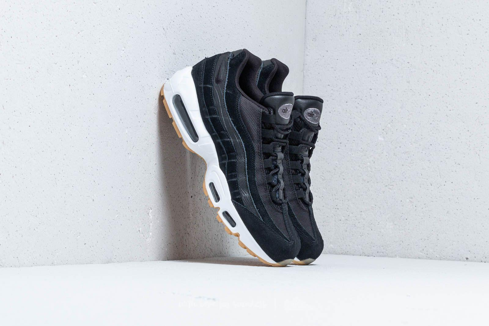 Lyst - Nike Air Max 95 Premium Black  Black-dark Grey-white in Black ... 524b488e3ca2