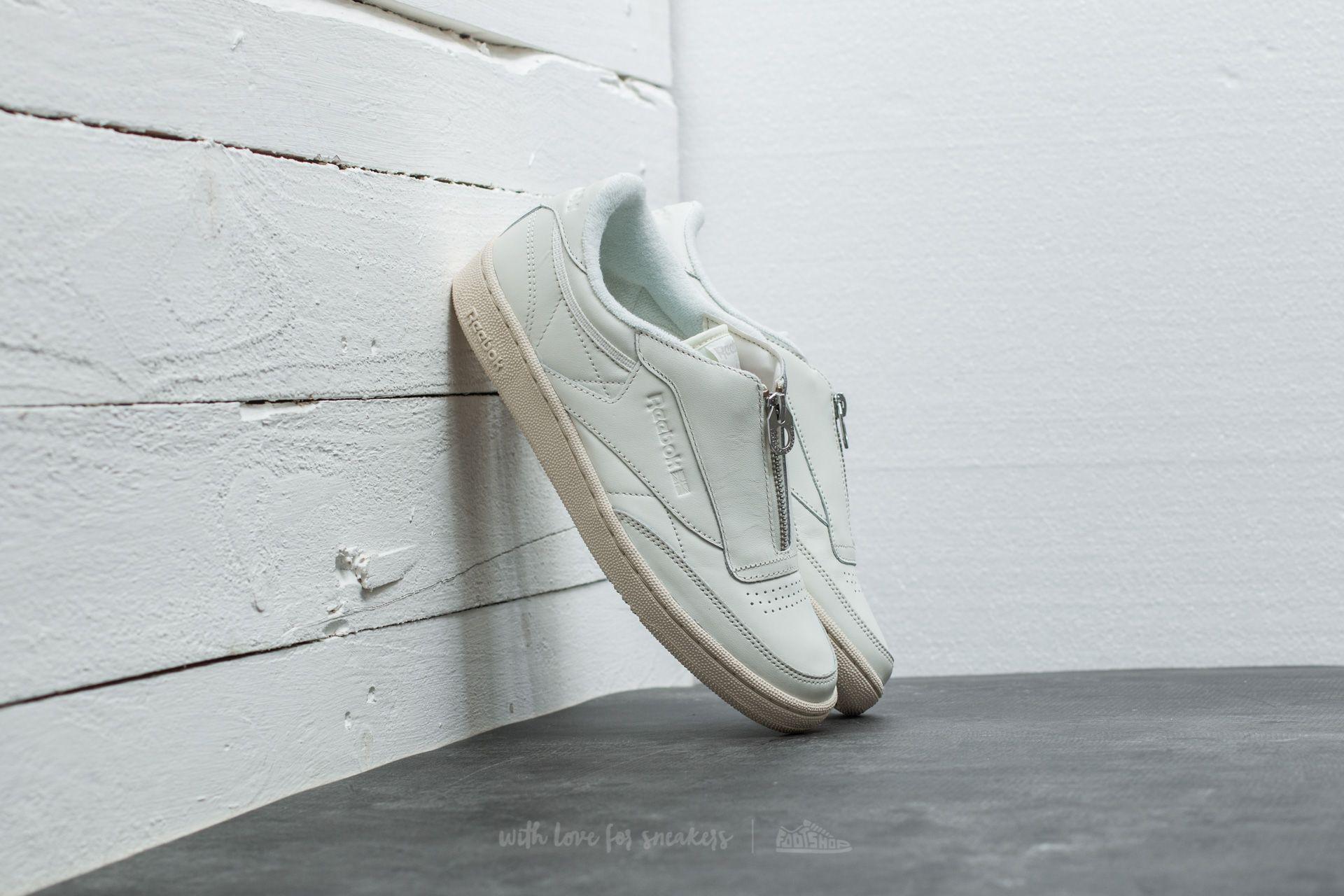 01b9f4e7694 Lyst - Reebok Club C 85 Zip Chalk  Sandstone  White  Silver