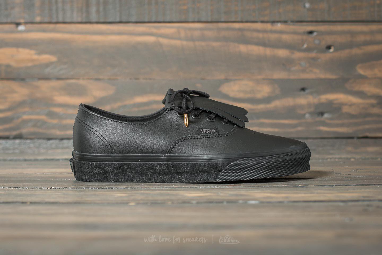 authentic vans leather black